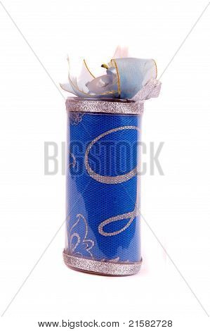 A Cotton Bag In The Form Of  Wedding Souvenir Package