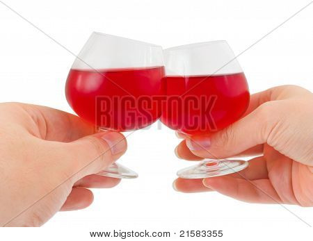 Hands And Wineglasses