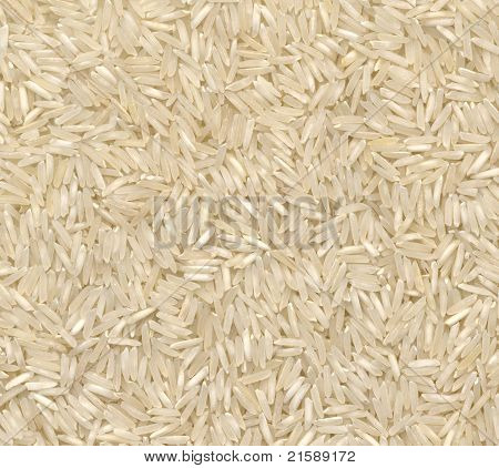 Long Grain White Rice High Resolution Close-up