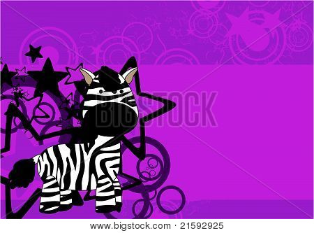 antecedentes1 felpa de dibujos animados de la cebra