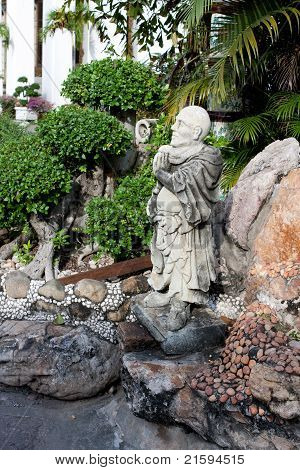 Stone Statue In Wat Po