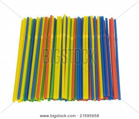 colorful bendable straws