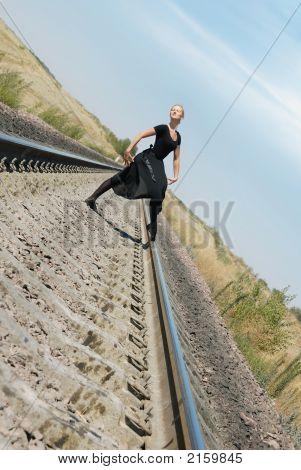 Posing Of Ballet Dancer