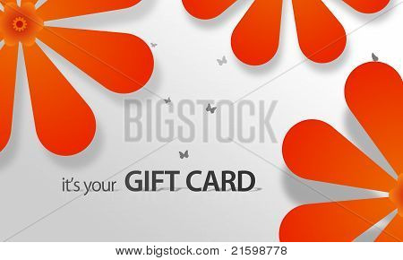 Orange Flower Giftcard