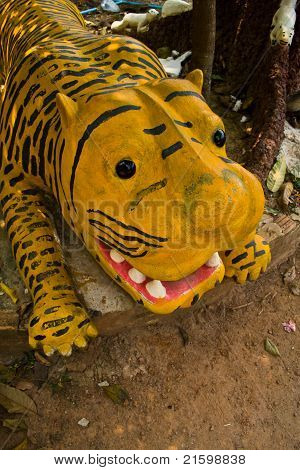 Statue Of A Tiger.