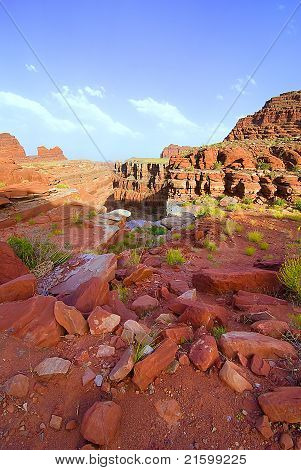 Geological rocks in canyonland