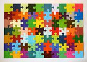 foto of brain teaser  - the colourful puzzle with lots of different colors - JPG