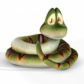 Cute Toon Snake #01 poster