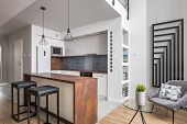 Apartment With Functionl Open Kitchen poster