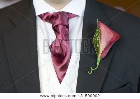 Man With Cravat And Buttonhole Flower