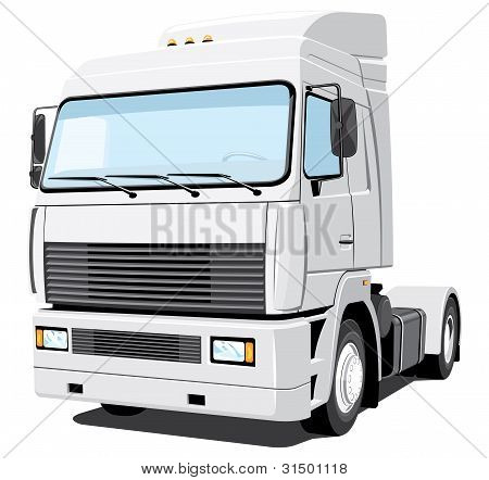White semi-truck (my design)