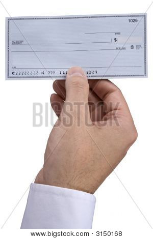 Blank Check In Hand