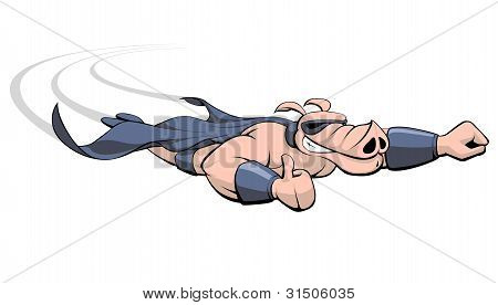 Flying Superhero Pig