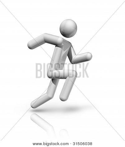 Athletics 3D Symbol