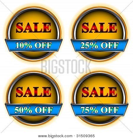 Four buttons sale