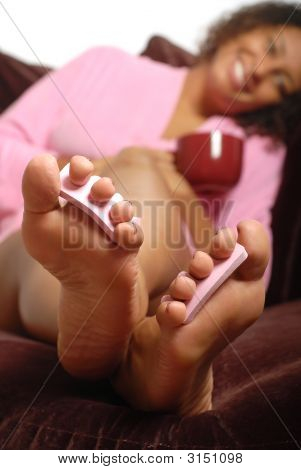 Relaxing With A Pedicure