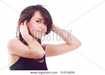 Attractive Young Girl In Fashion Pose