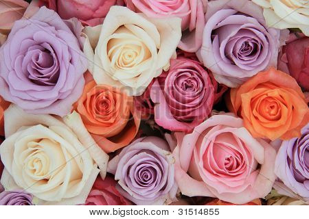 Pastel Rose Wedding Flowers