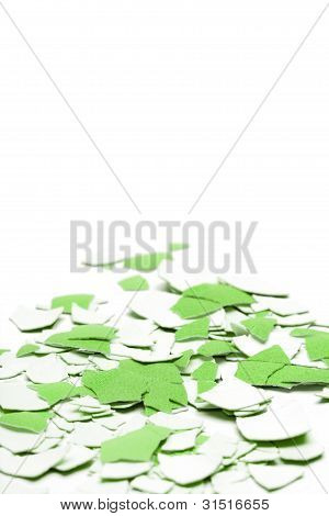 Abstract Green Shell Background