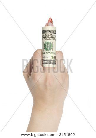 Dollars On Finger