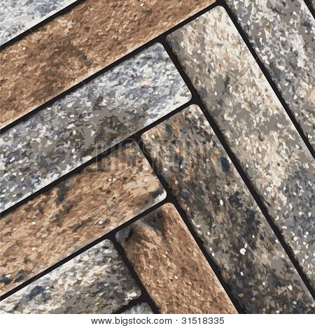 Pavimento de pedra Vector naturalista
