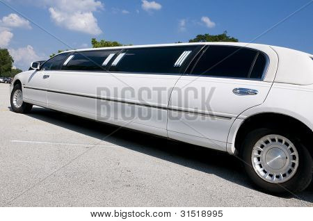 White Stretch Limo