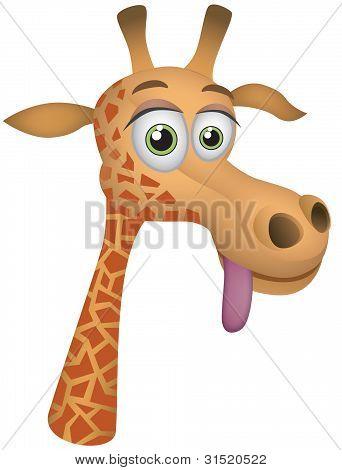 Giraffe Vector Cartoon Illustration