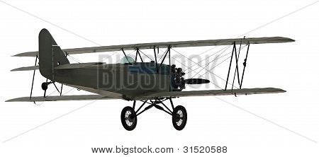 Isolated Vintage Bi-plane