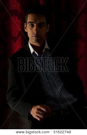 Elegant Business Man In Darkness