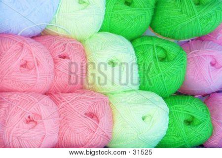 Bright Yarn Skeins