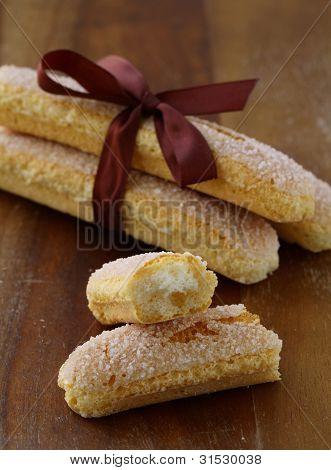 Traditional Italian cookies  savoiardi