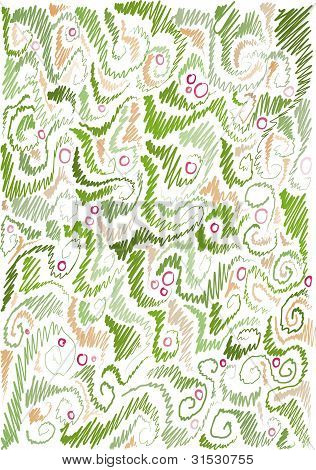 floral hand-drawn background