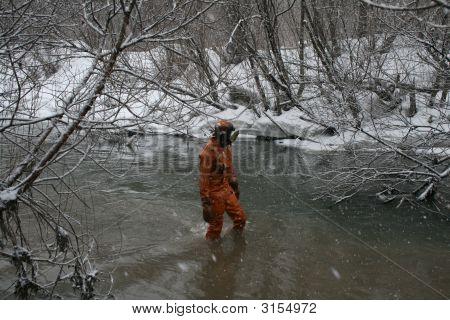 Diver In Stream