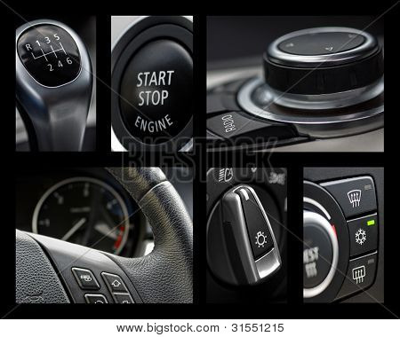 Collage interior coche