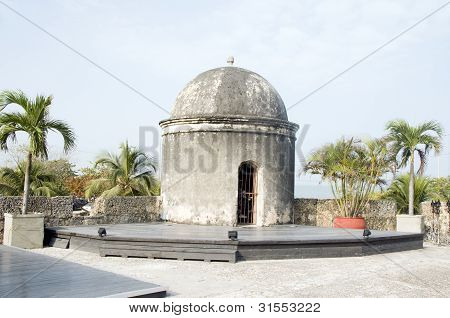 Sentry Box  Lookout Cartagena De Indias Colombia South America