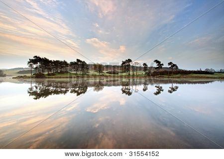 Landscape reflection at Knapps Loch