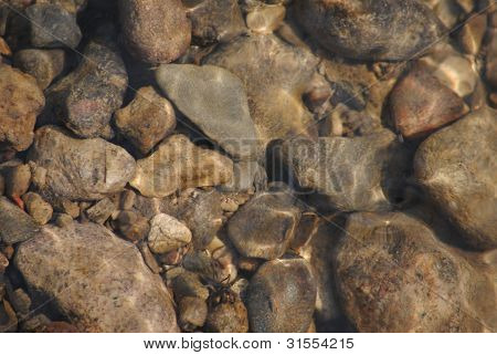 Stones under the water