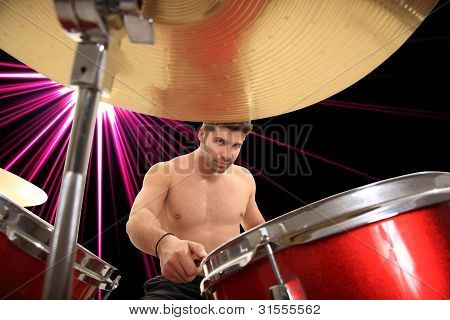 Young Drumer Portrait