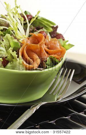 Smoked Salmon Salad Dinner