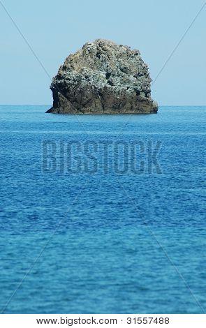 Small rocky island in Corsica