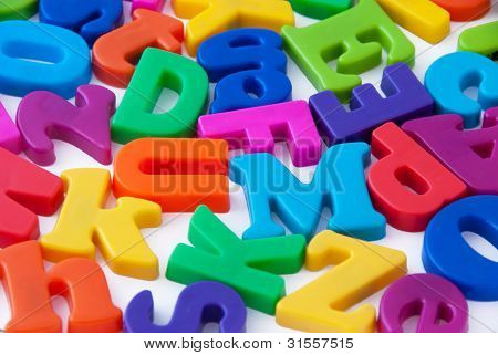 Alphabet letters background