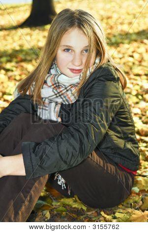 Teenage Girl In The Fall