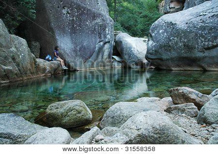 Purcaraccia canyon, Corsica, France