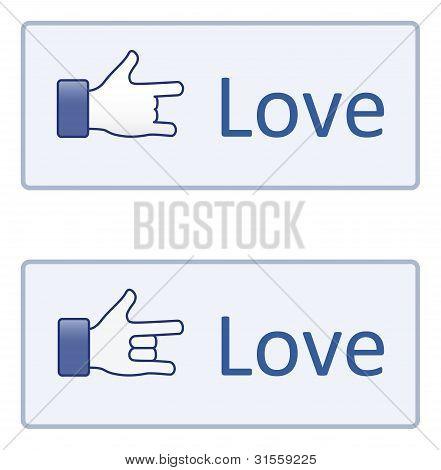 Hand Symbol Liebe