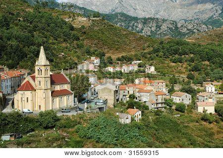 The village of Vivario, Haute-Corse, Corsica, France