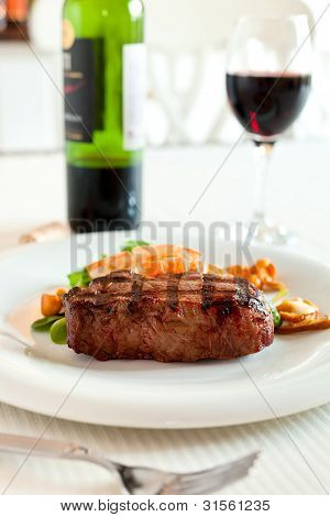 Surf And Turf With Wine