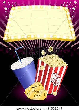 cinema popcorn and soda