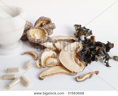 Mushrooms With Capsules