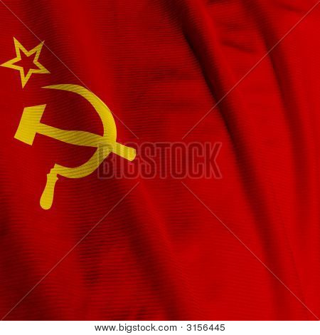 Soviet Union Flag Closeup
