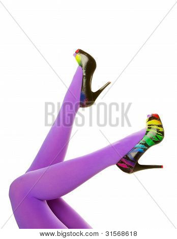 Purple Tights And High Heels